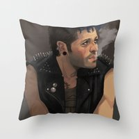 punk Throw Pillows featuring Punk by Pat-a-tat
