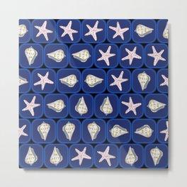 Seashells pattern Metal Print
