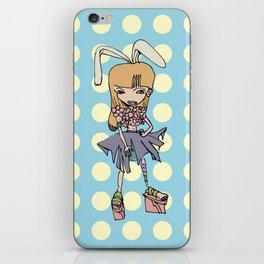 Flower Bunny Girl iPhone Skin