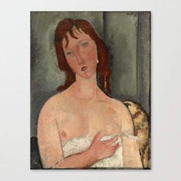 """Amedeo Modigliani """"Portrait of a Young Woman"""" Canvas Print"""
