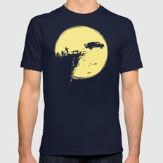 Zombie Invasion MEDIUM Navy Mens Fitted Tee