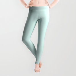 Light Cyan Soft Mint Green Solid Matte Colour Palette Leggings