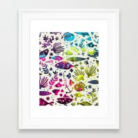 under the sea Framed Art Prints featuring Under The Sea by 83 Oranges™
