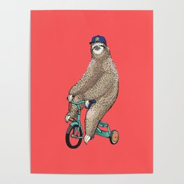 Haters Gonna Hate Sloth Poster