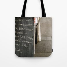 Books can be dangerous Tote Bag