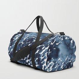 Watercolor dark abstract drops Duffle Bag