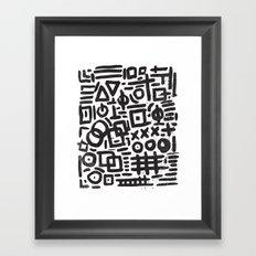 ABSTRACT 4 - BLACK & WHITE Framed Art Print