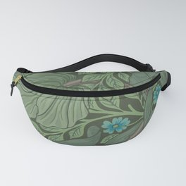 William Morris Art Nouveau Forget Me Not Floral Fanny Pack