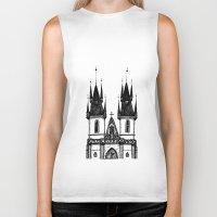 prague Biker Tanks featuring Tyn Church - Prague by Nicole Cioffe