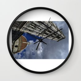 Storm over Duomo - Florence, Italy Wall Clock