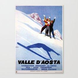 Aosta Valley winter sports Canvas Print