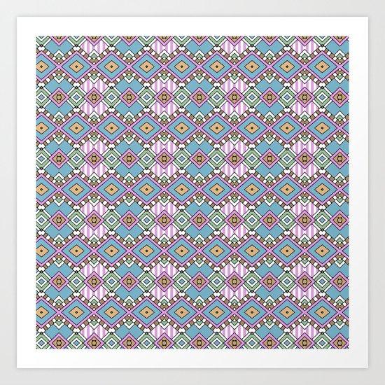 Funky Retro Pattern Art Print
