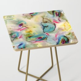 green absstract Side Table