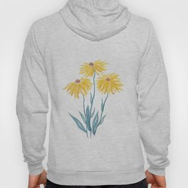 three yellow flowers Hoody