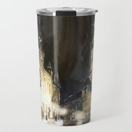 Belfry of Bruges  medieval bell tower in the centre of Bruges, Belgium.  Watercolor painting Travel Mug