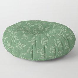Leaves pattern - Green Floor Pillow