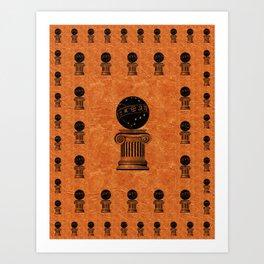 Freemason Mason Masonic Lodge Symbol Pillar Art Print