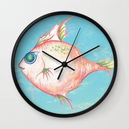 Pink Fish Dreams  Wall Clock