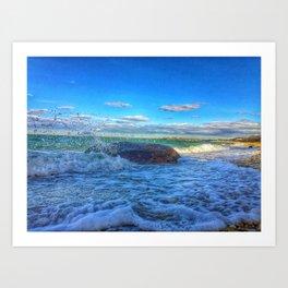 Bay Wave Art Print