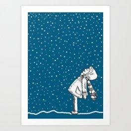 Snoweater Art Print