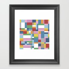 Map Close Framed Art Print