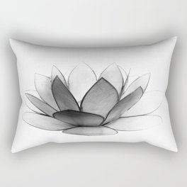 White Lotus Rectangular Pillow