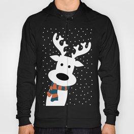 Reindeer in a snowy day (blue) Hoody