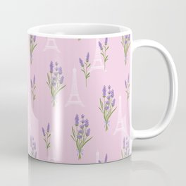Elegant lavender lilac white Paris Eiffel Tower floral Coffee Mug