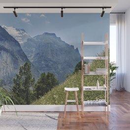 Silberhorn Mountains And Glacier. 3.695meters. Lauterbrunnen Valley. Alps. Switzerland Wall Mural