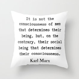 10     Karl Marx Quotes   190817 Throw Pillow