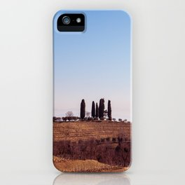 Winter morning in the vineyards of Collio, Italy iPhone Case