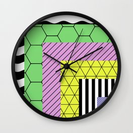 Go Bigger (Abstract, geometric, pastel designs) Wall Clock