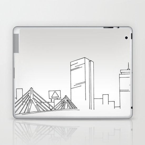 Boston Skyline Laptop & iPad Skin