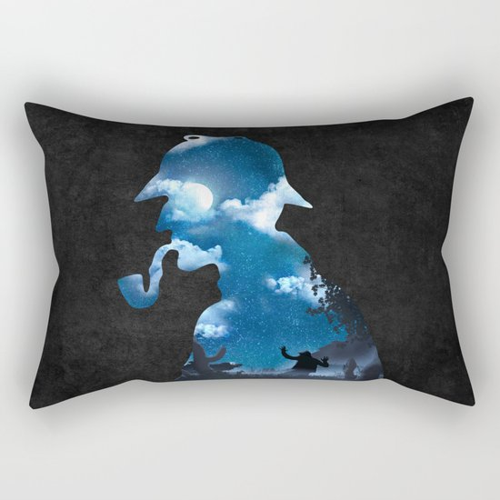 The Terrible Hound on the Moorland Rectangular Pillow