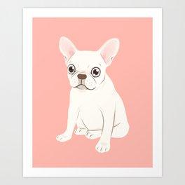 Sweet Cream French Bulldog Wants Your Pet Art Print