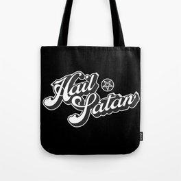 Hail Satan - Grayscale pop vintage letters Tote Bag