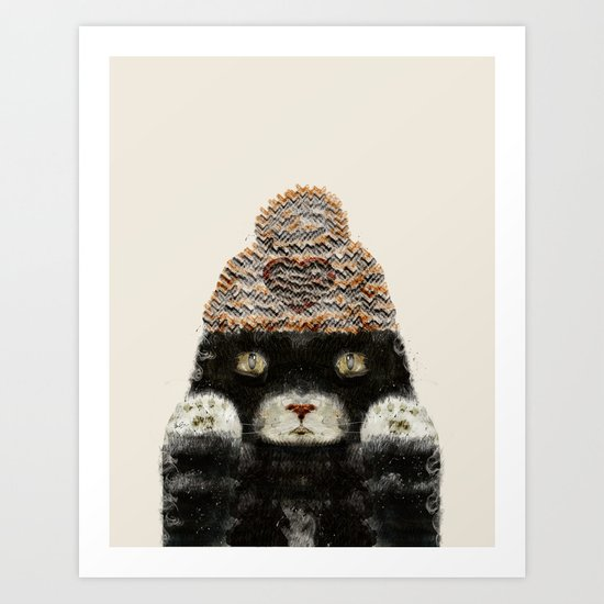 Indy Kitten Art Print