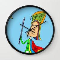 samurai Wall Clocks featuring SAMURAI by Joe Pansa
