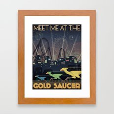 Final Fantasy VII Gold Saucer Travel Poster Framed Art Print