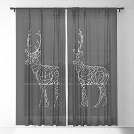 Geo Reindeer Sheer Curtain