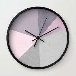 Desert Rose Palette Wall Clock