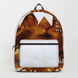Giza Egypt Skyline Backpack