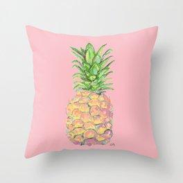 Pink Brite Pineapple Throw Pillow