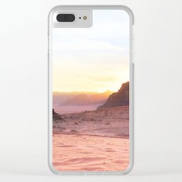 Desert Sunset, Wadi Rum, Jordanie Clear iPhone Case
