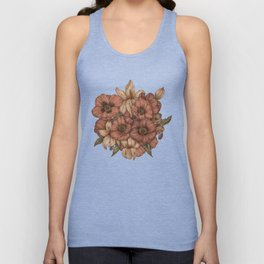 Poppies and Lilies Unisex Tank Top