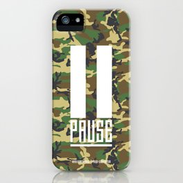 PAUSE – Camo iPhone Case