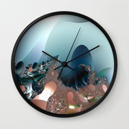 Hiding in a Fantasy Waterworld -- Fractal art by Twigisle at Society6 Wall Clock
