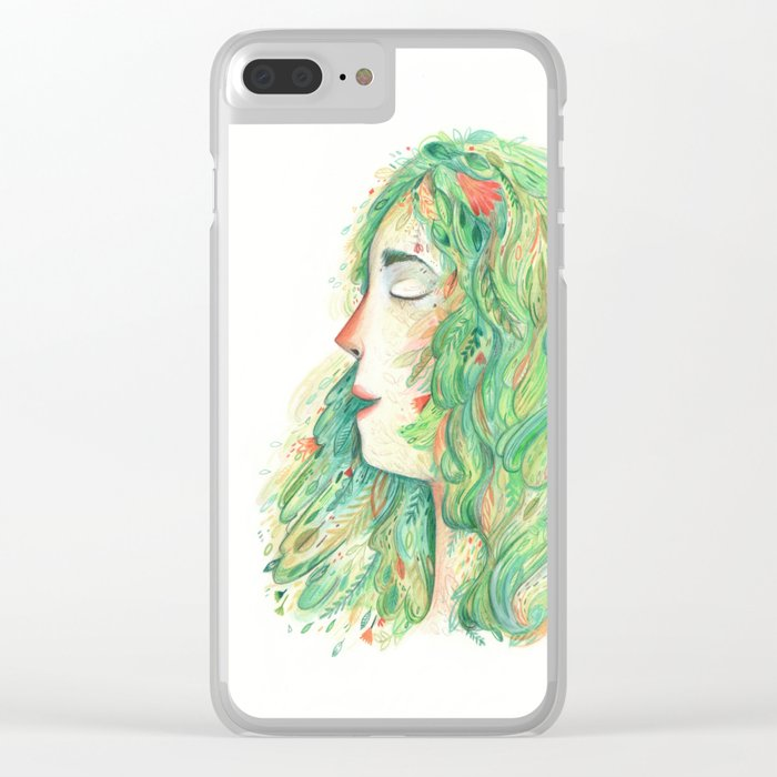 Lady Wildish Clear iPhone Case