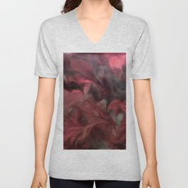 Jack Frost In Coral and Green Unisex V-Neck