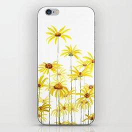 Yellow sunchoke flowers painting iPhone Skin